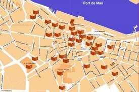 Mahón Tourist Attractions Map