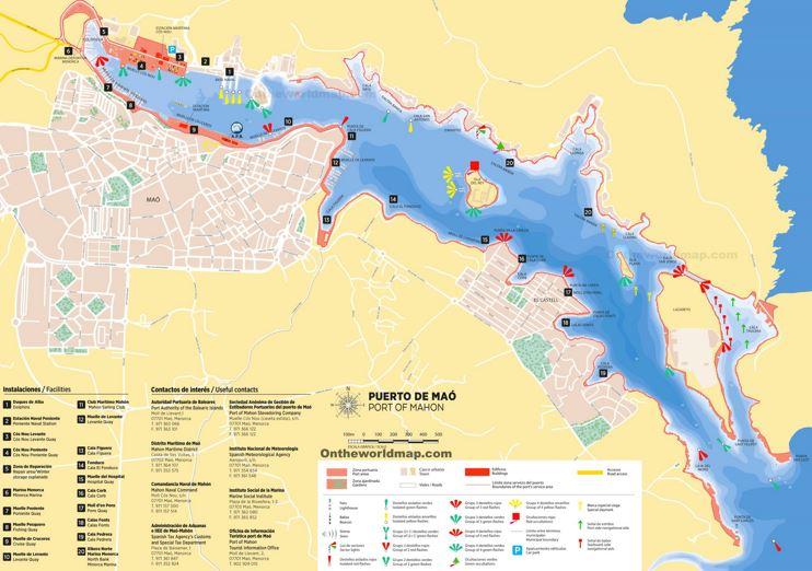 Port of Mahón Map