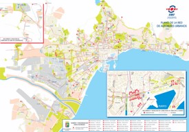 Malaga bus map