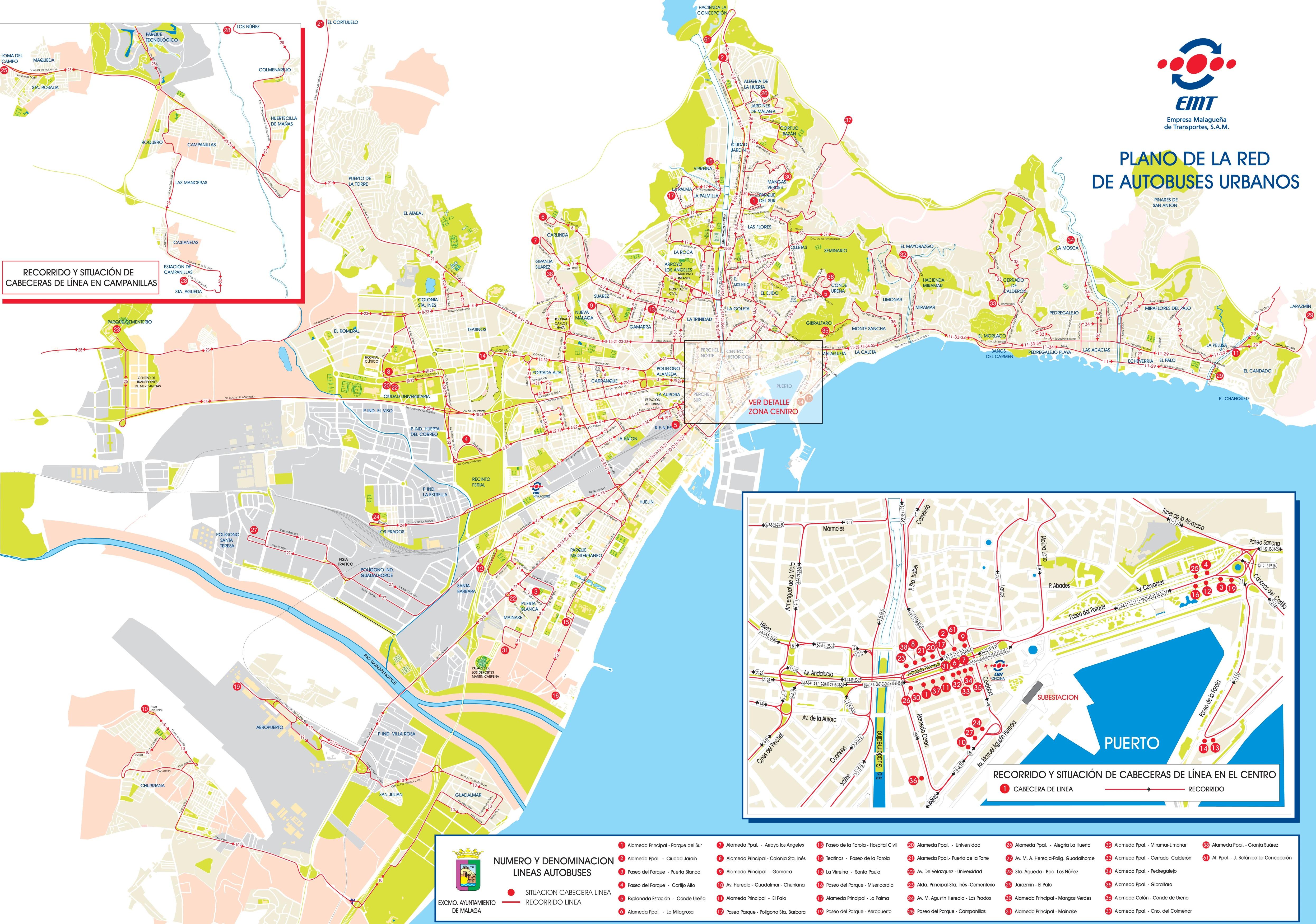 Malaga Maps Spain Maps of Malaga
