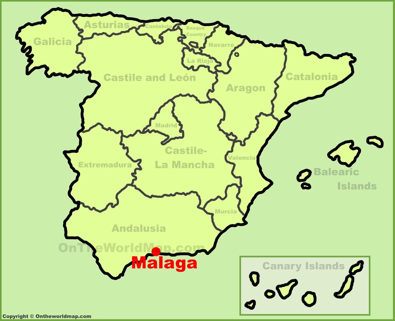 Map Of Spain Showing Malaga.Malaga Maps Spain Maps Of Malaga