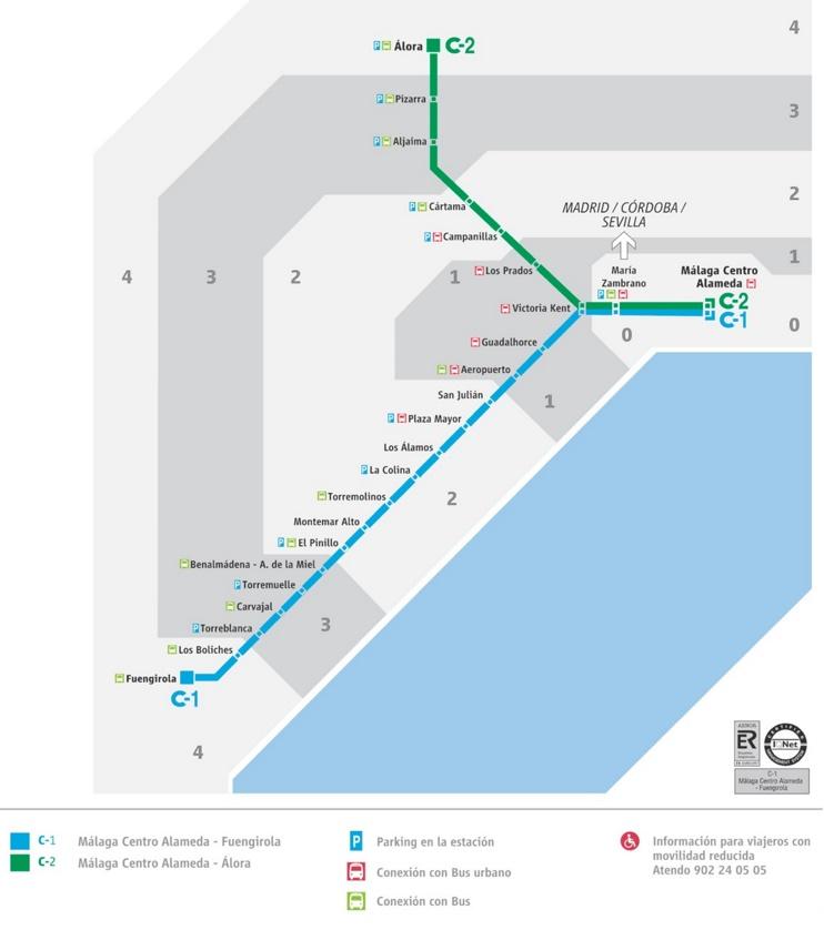 Málaga metro mapa