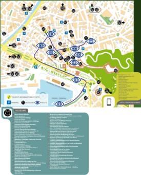 Malaga museum map