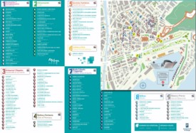 Malaga shopping map