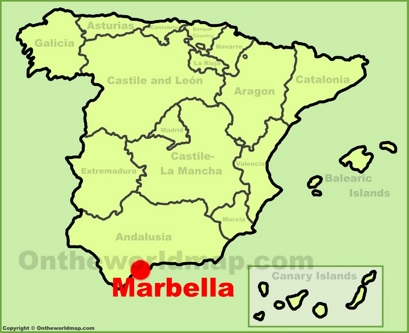 Marbella Location Map