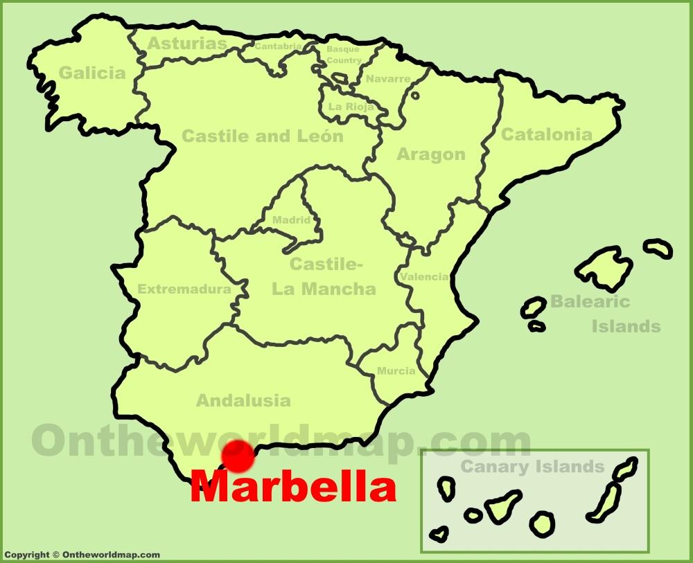 Marbella Maps Spain Maps of Marbella