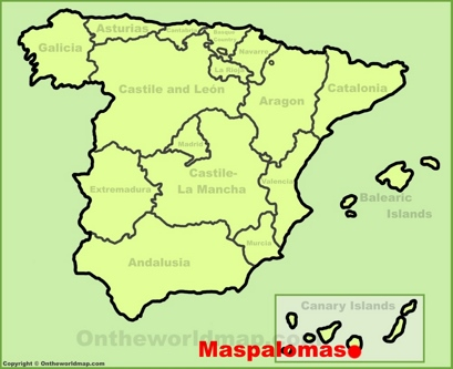 Maspalomas Location Map