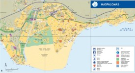 Maspalomas tourist map