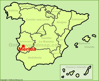 Mérida Location Map