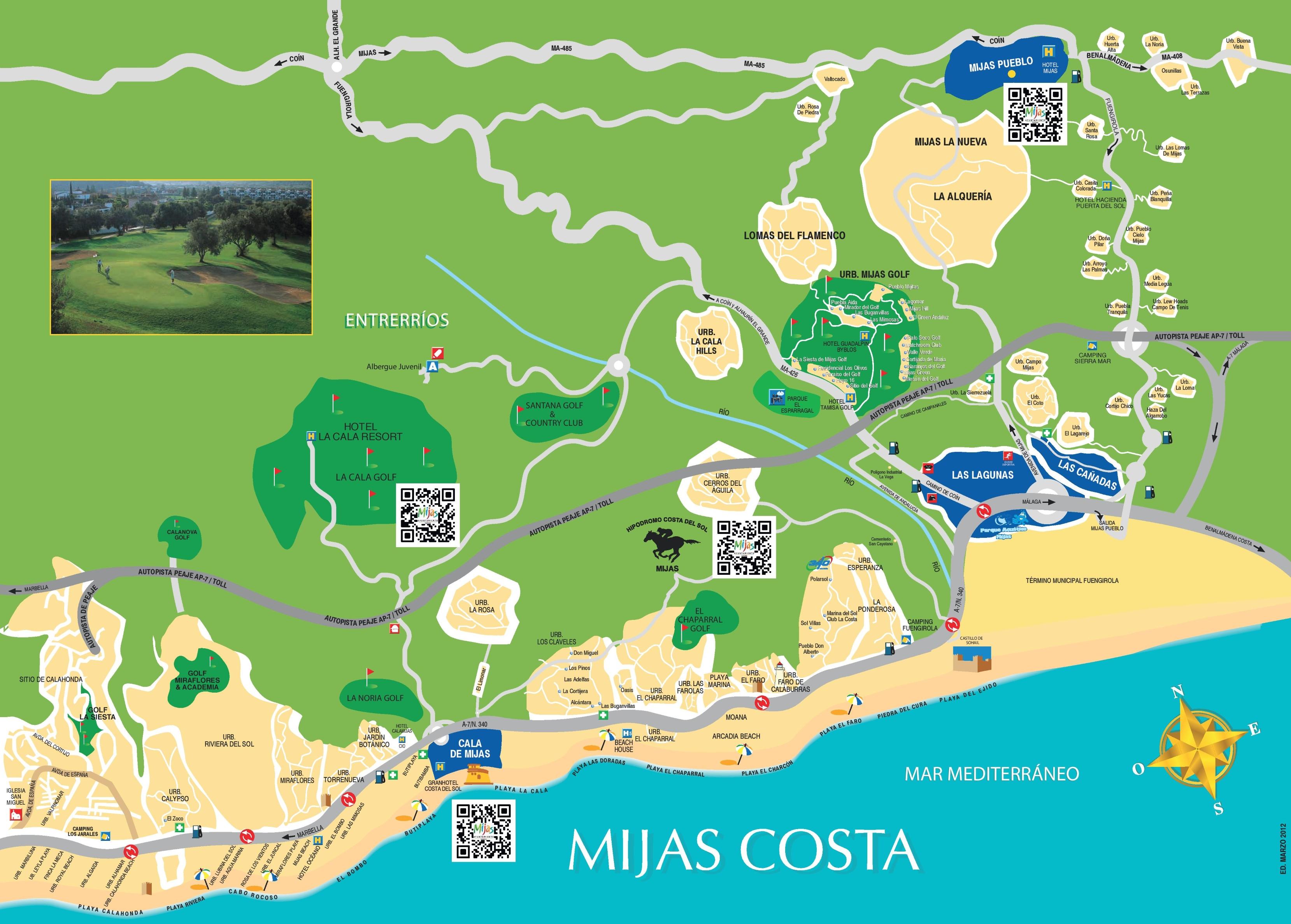 Mijas Costa Map Mijas Costa map
