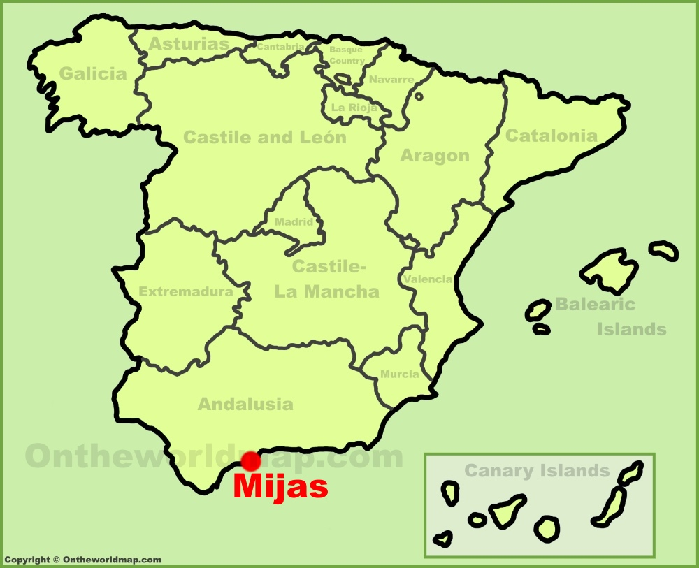 Mijas Maps Spain Maps of Mijas