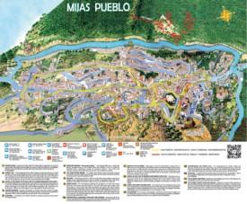Mijas Pueblo map