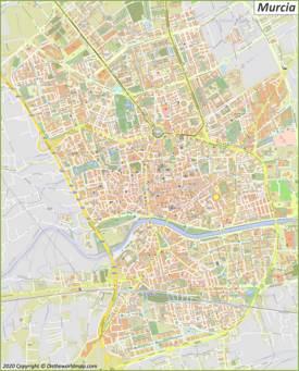 Mapa detallado de Murcia