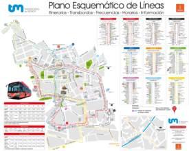 Mapa de autobuses de Murcia