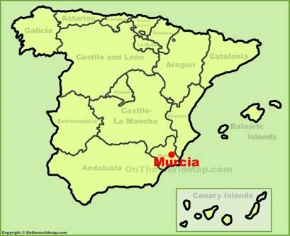 Murcia Location Map