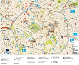 Oviedo city center map