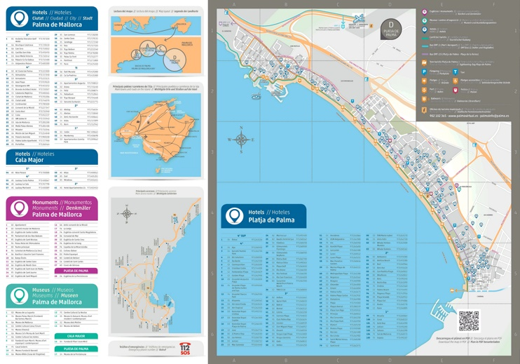 Palma de Mallorca beach hotel map