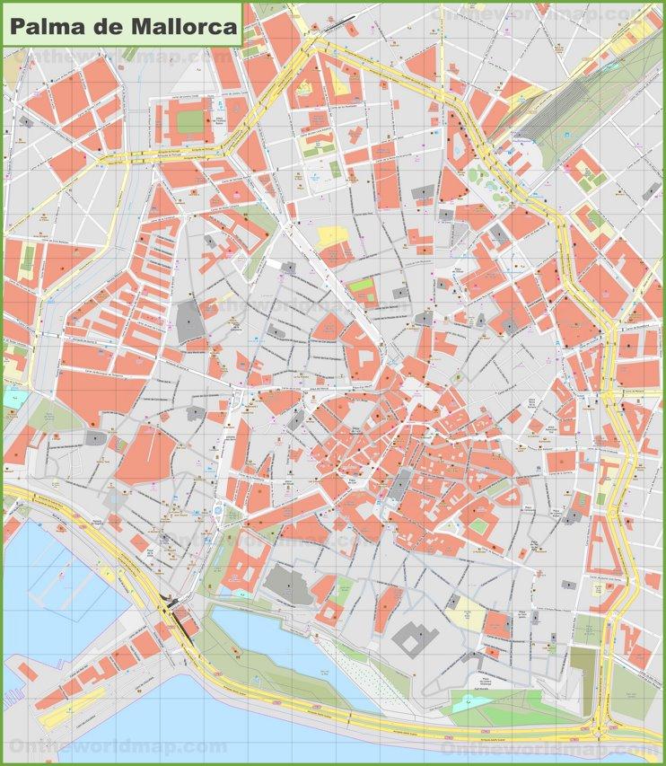 Palma - Mapa de la ciudad vieja