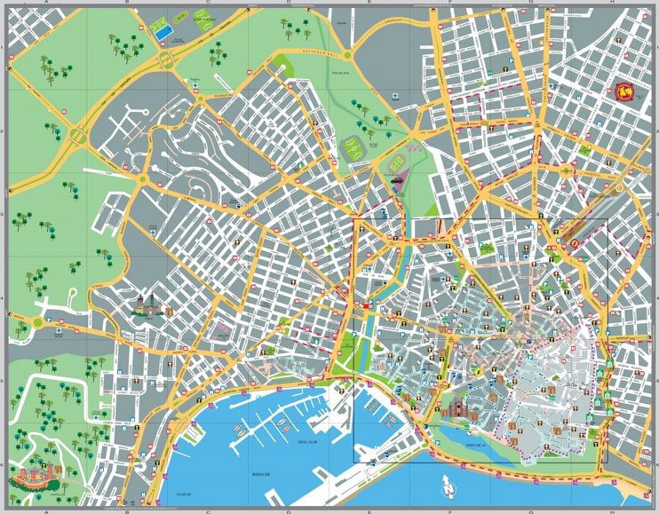 Palma de Mallorca sightseeing map