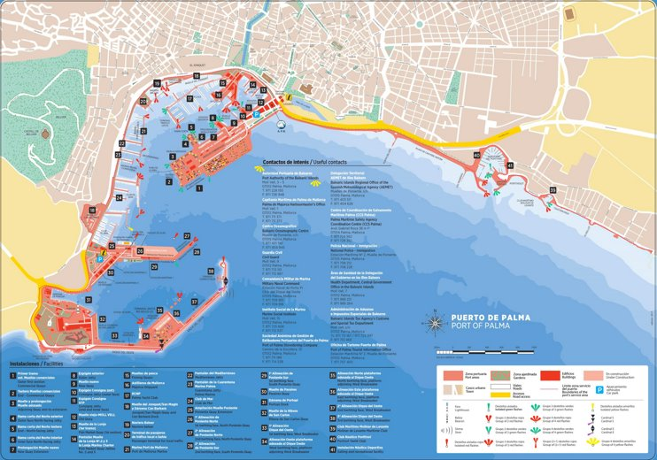 Port of Palma map