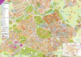 Pamplona Hotels and Sightseeings Map