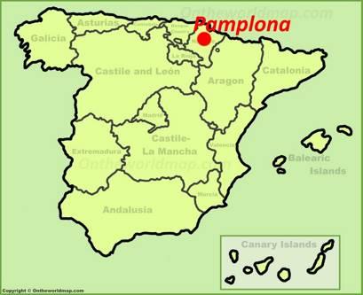 Pamplona Location Map