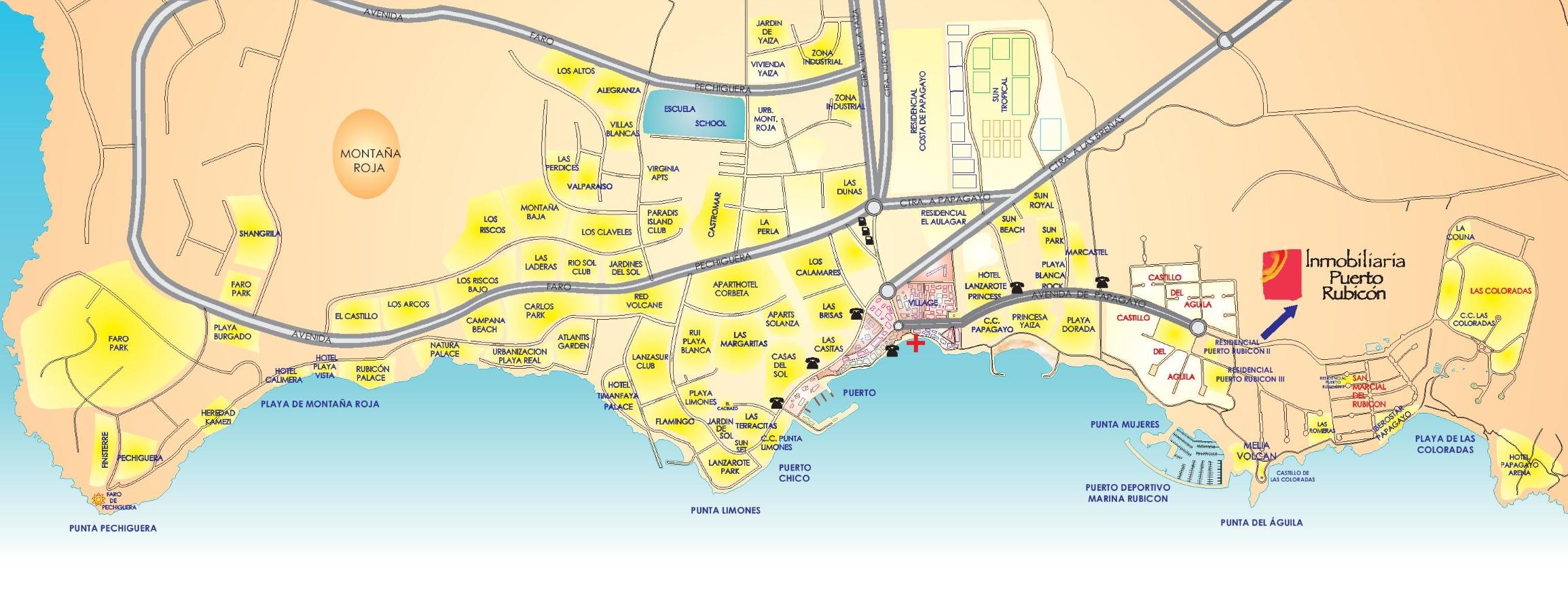 Playa Blanca Hotel Map
