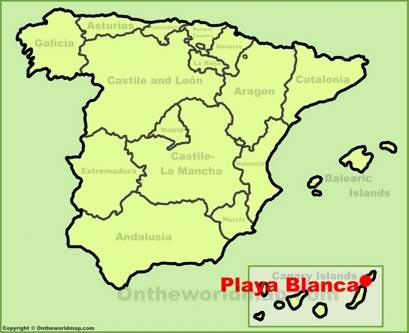 Playa Blanca Location Map