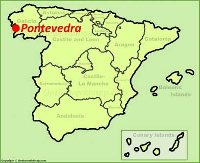 Pontevedra Location Map
