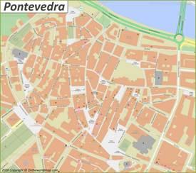 Pontevedra Old Town Map