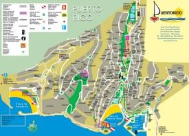 Puerto Rico de Gran Canaria hotel map