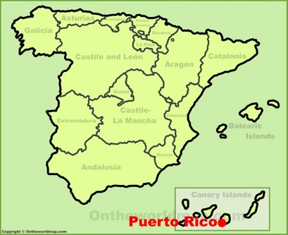 Puerto Rico de Gran Canaria Location Map