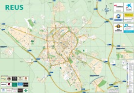 Large detailed tourist map of Reus