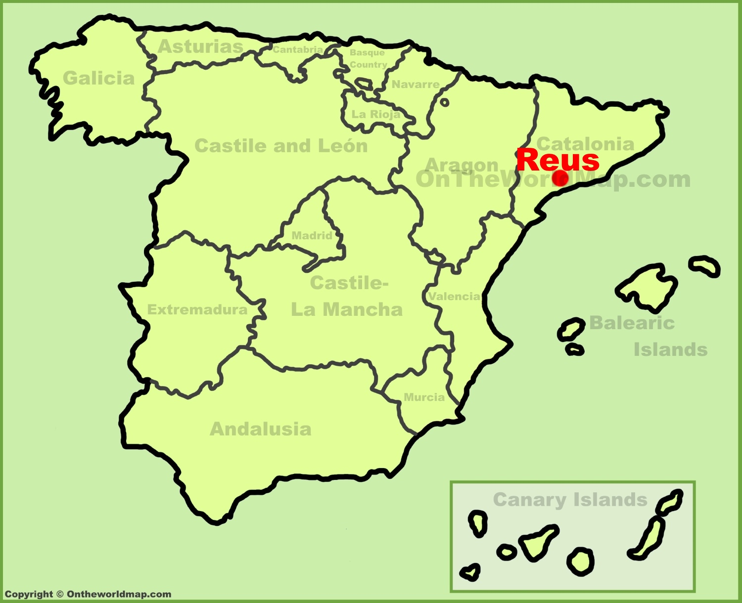 Map Of Spain Reus.Reus Location On The Spain Map