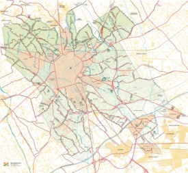 Road map of surroundings of Reus