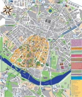 Salamanca hotels and sightseeings map