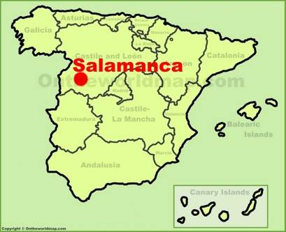 Salamanca Location Map
