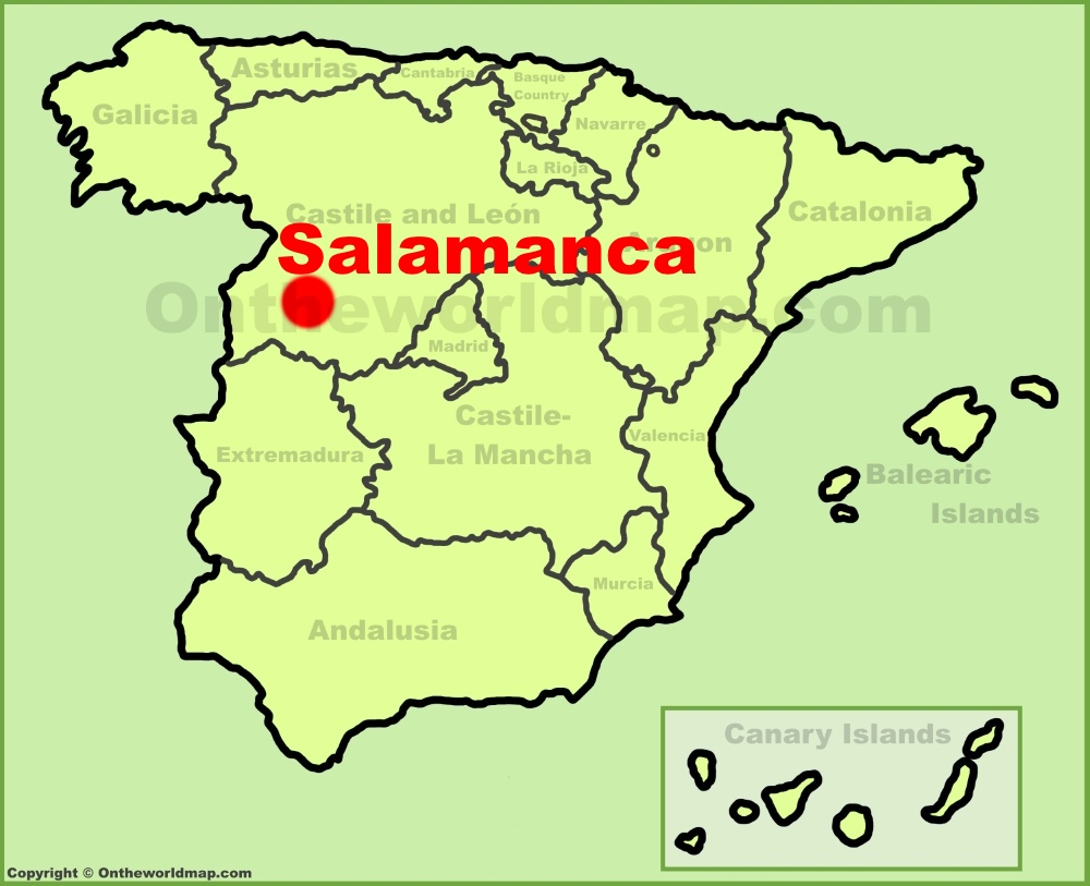 Salamanca Maps | Spain | Maps of Salamanca