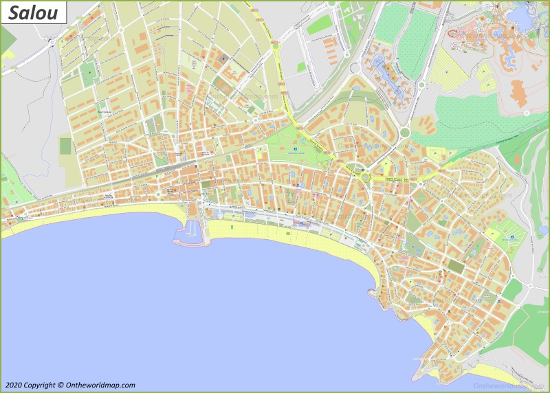 Mapa de Salou
