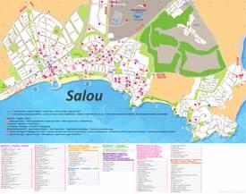Mapa de alojamiento de Salou