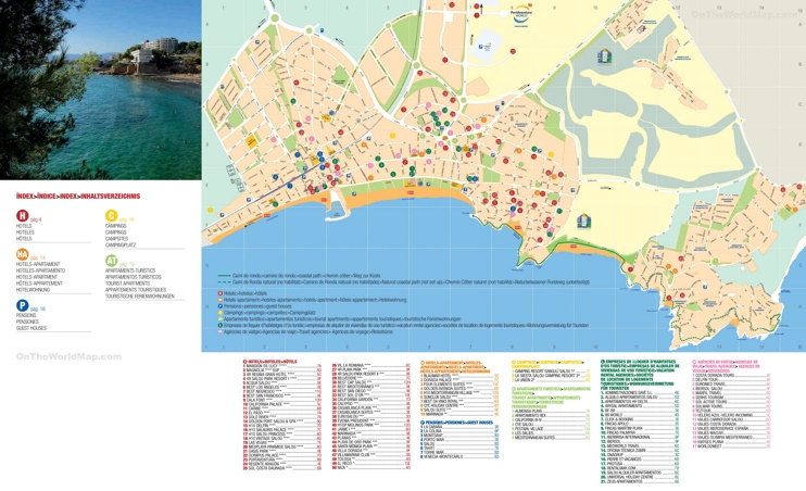 Map Of Spain Showing Salou.Salou Hotel Map