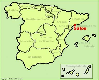Salou Location Map