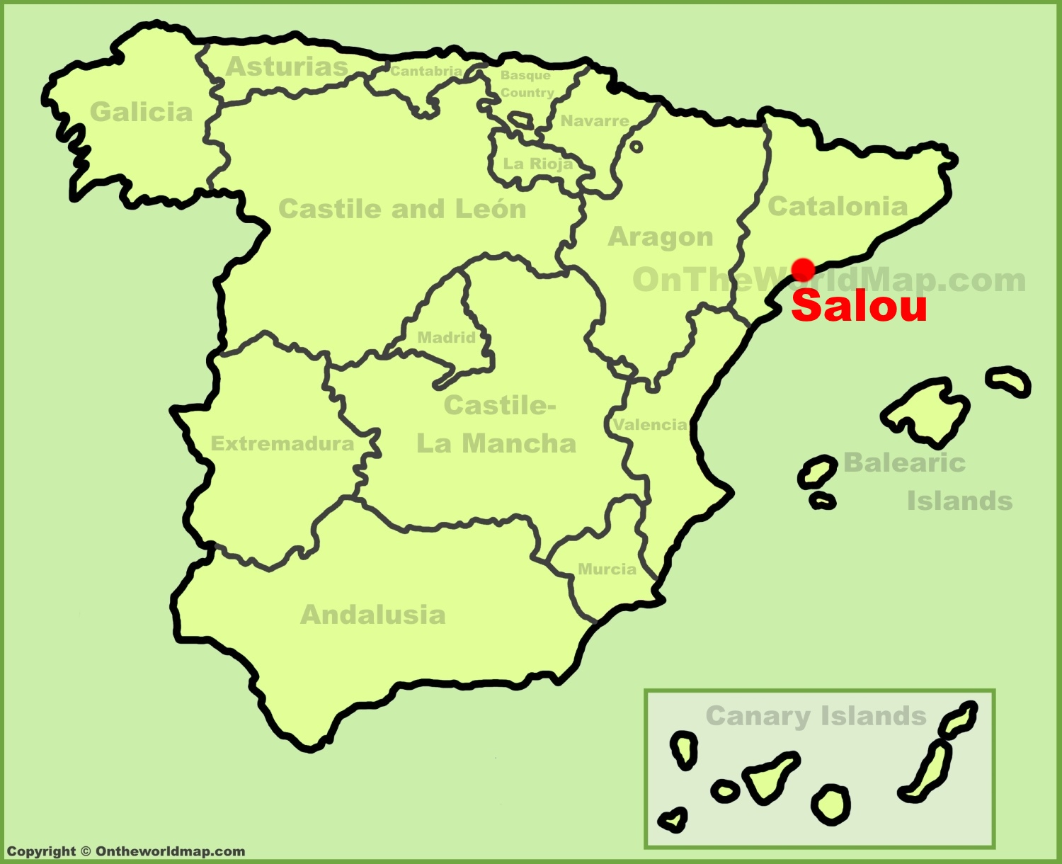Map Of Spain Showing Salou.Salou Maps Spain Maps Of Salou