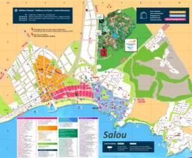 Mapa turístico de Salou