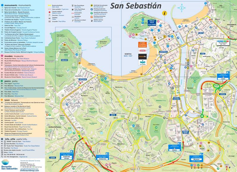 st sebastian spain map San Sebastian Map Spain Maps Of San Sebastian Donostia