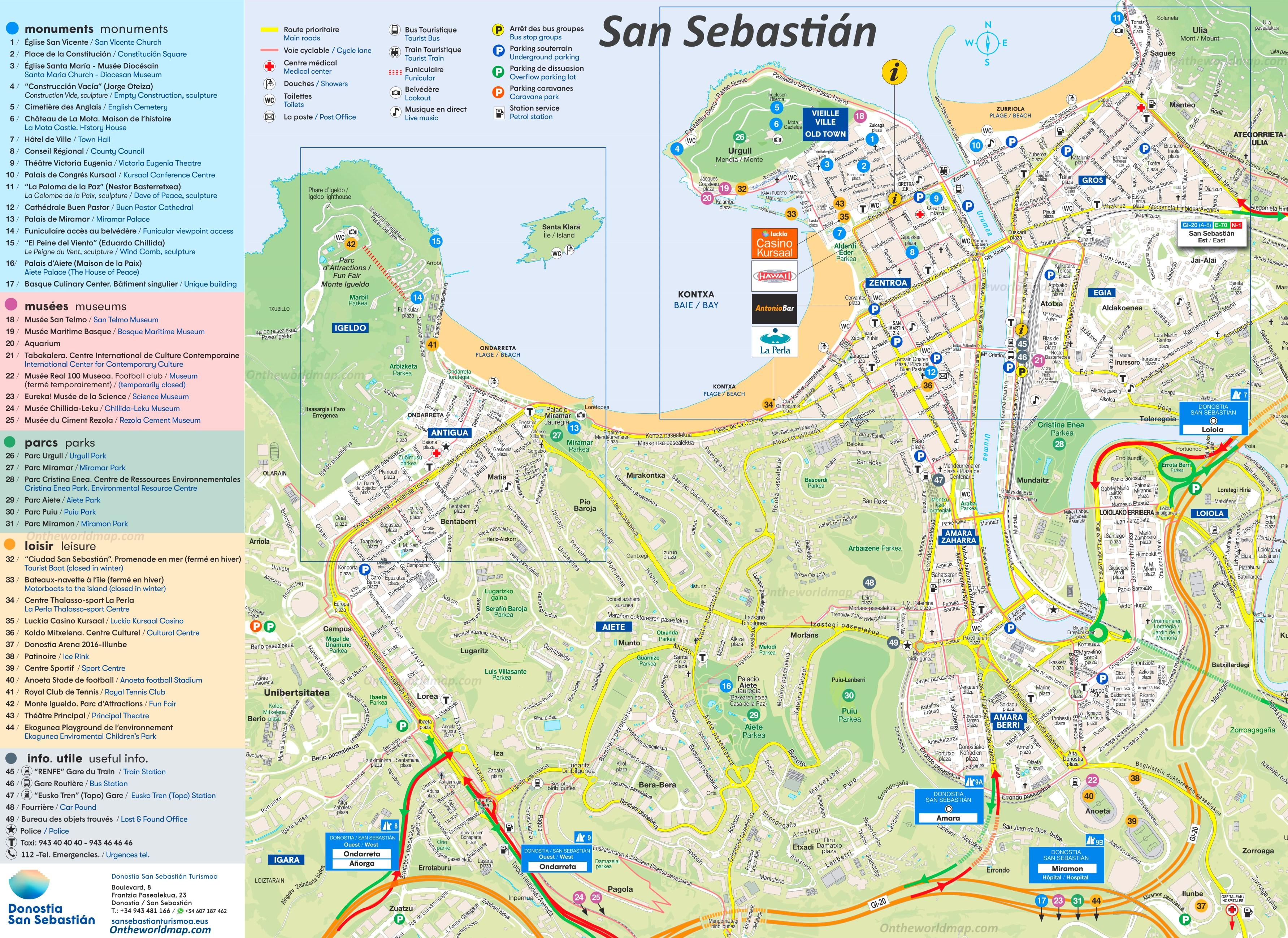 Map Of Spain San Sebastian.San Sebastian Map Spain Maps Of San Sebastian Donostia