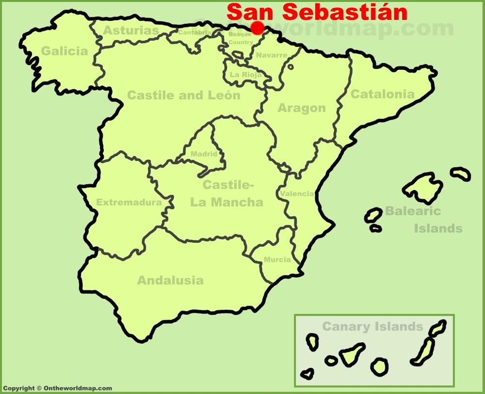 San Sebastian Spain Map San Sebastián location on the Spain map San Sebastian Spain Map