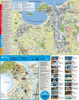 San Sebastián tourist attractions map