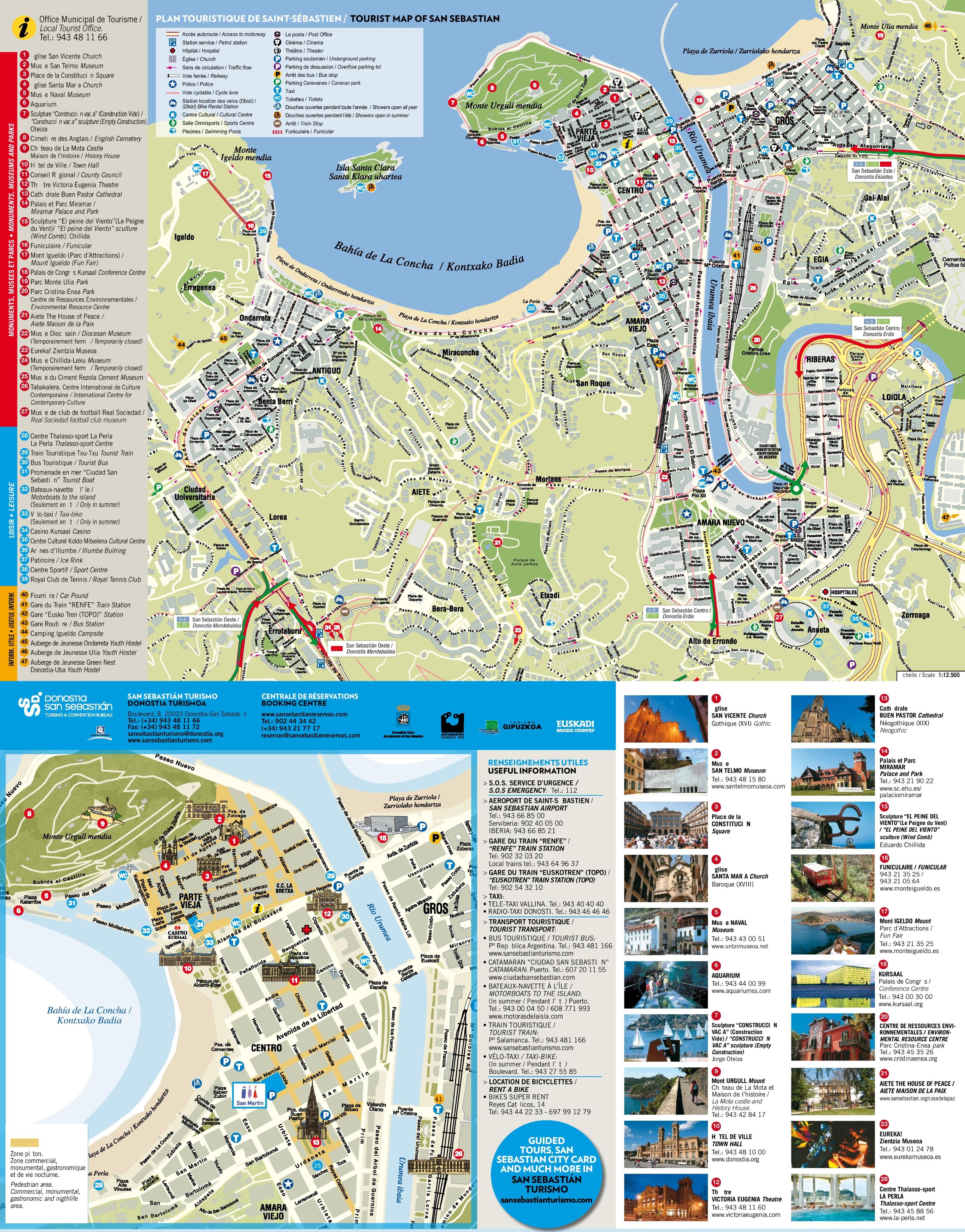 san sebasti u00e1n tourist attractions map