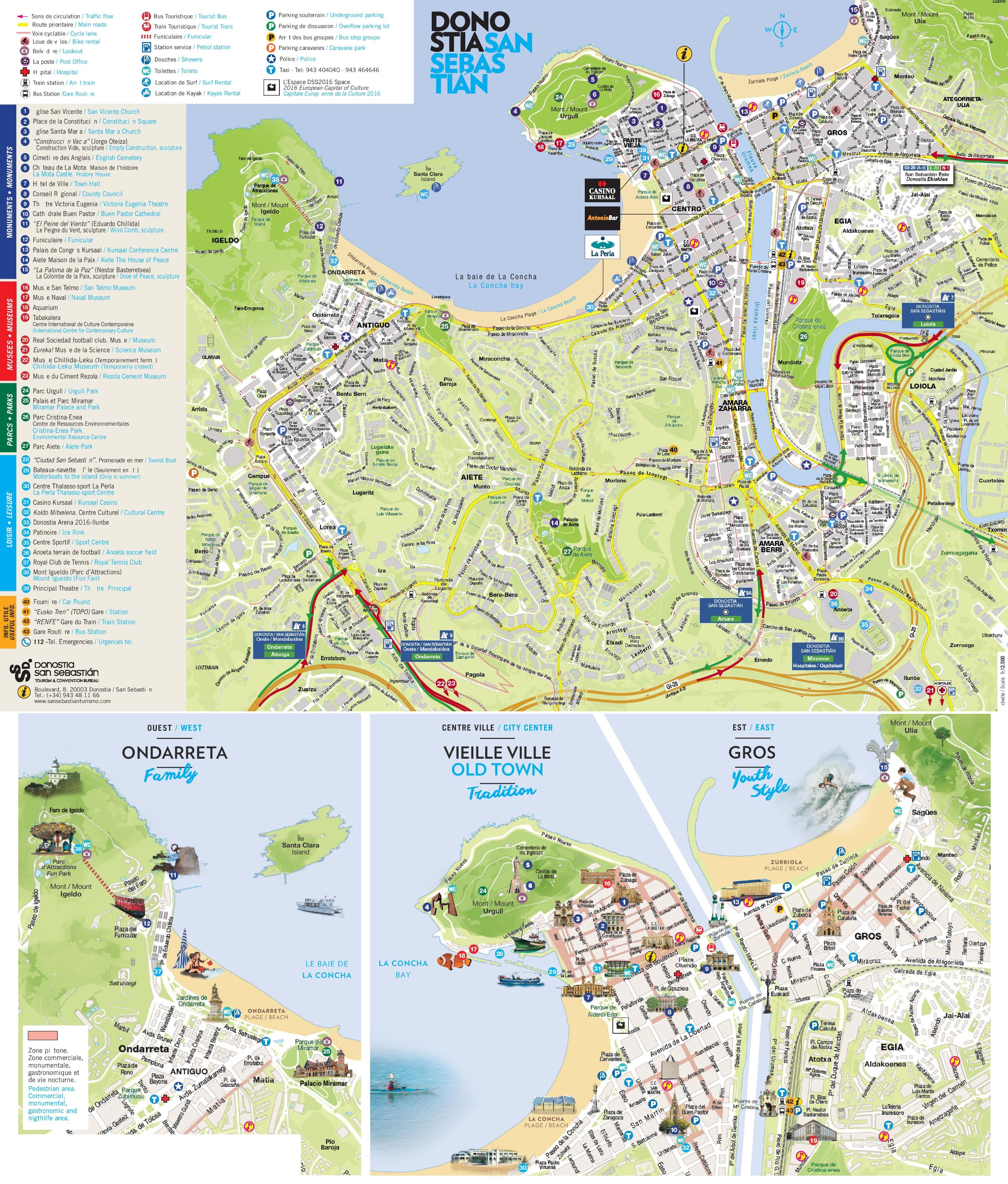 San Sebastian Spain Map San Sebastián Maps   Spain   Maps of San Sebastián (Donostia) San Sebastian Spain Map